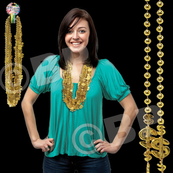 Printed Dollar Sign Mardi Necklace