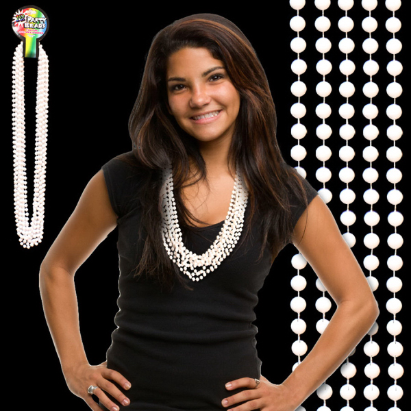 Promotional White Beaded Necklace