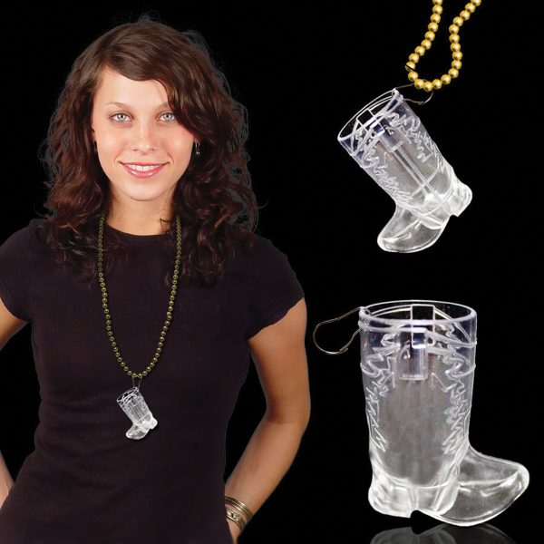 Promotional Western Boot Shot Glass Medallion