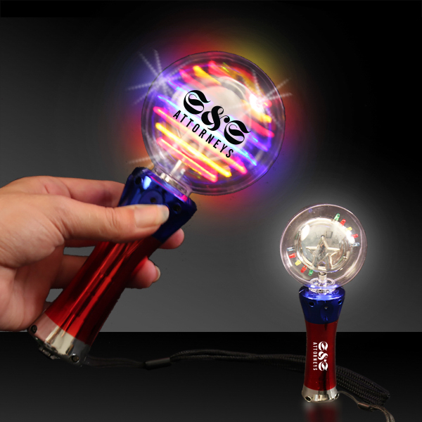 Imprinted Light-Up LED Spinner Wand
