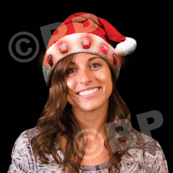 Promotional Light up Santa Hats