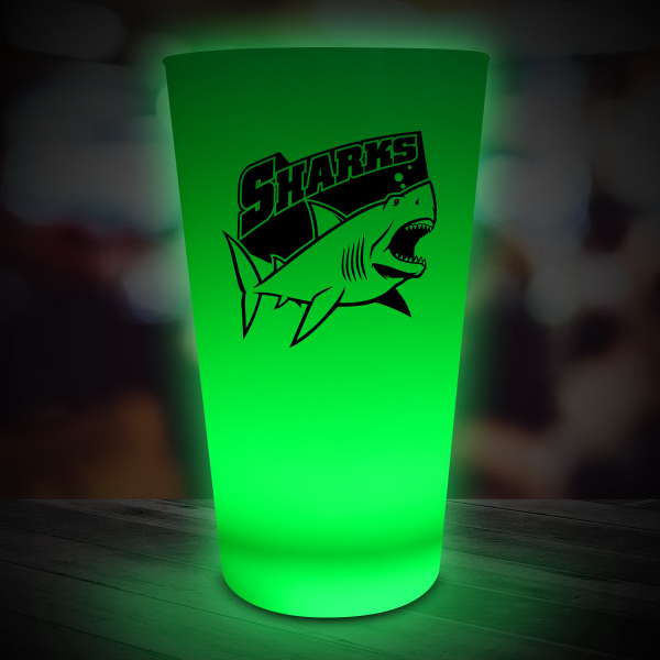 Personalized Green LED Neon Look 16 oz Pint Glass