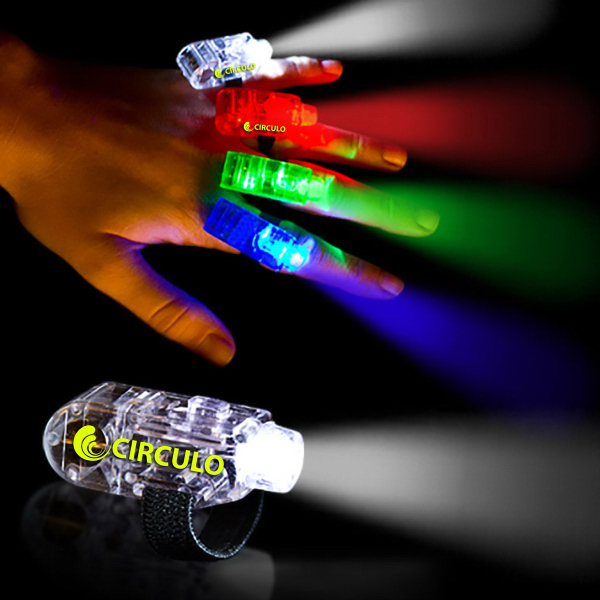 Printed LED Finger Light in Matching Body Colors