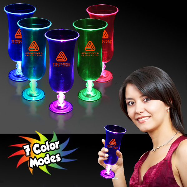 Customized 16 oz. Light Up LED Hurricane Glass