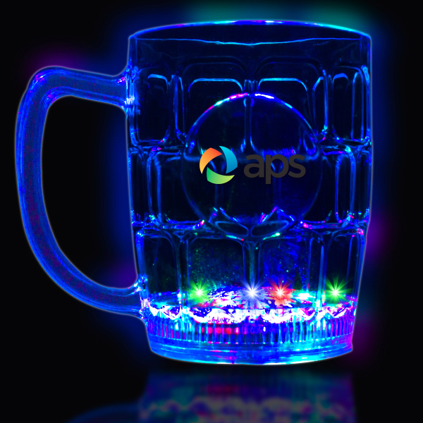 Custom 16 oz. MultiColor Flashing LED Drink Stein