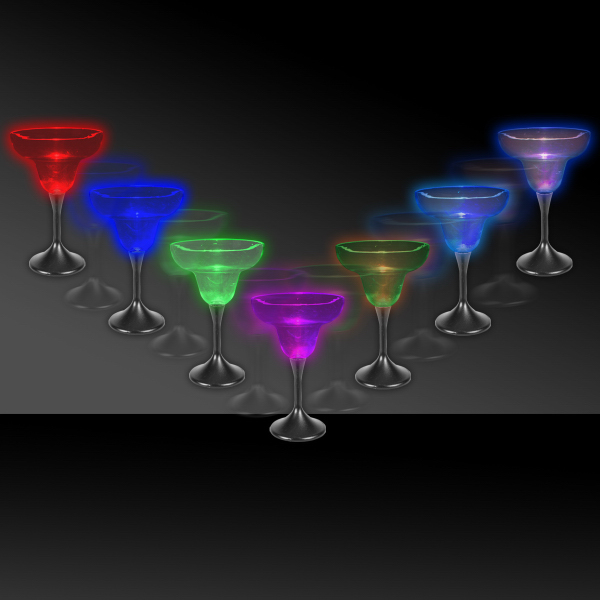 Personalized 10 oz. Lighted LED Margarita Glass