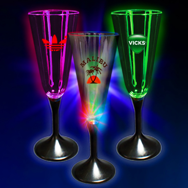 Personalized 7 1/2 oz. Lighted Glow Champagne Flute