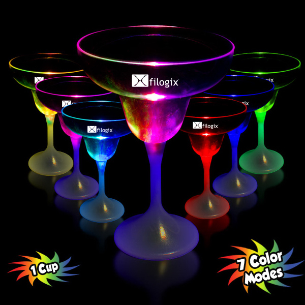 Promotional 9 oz. Lighted LED Margarita Glass