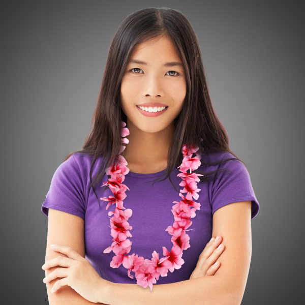 Customized Pink Flower Lei