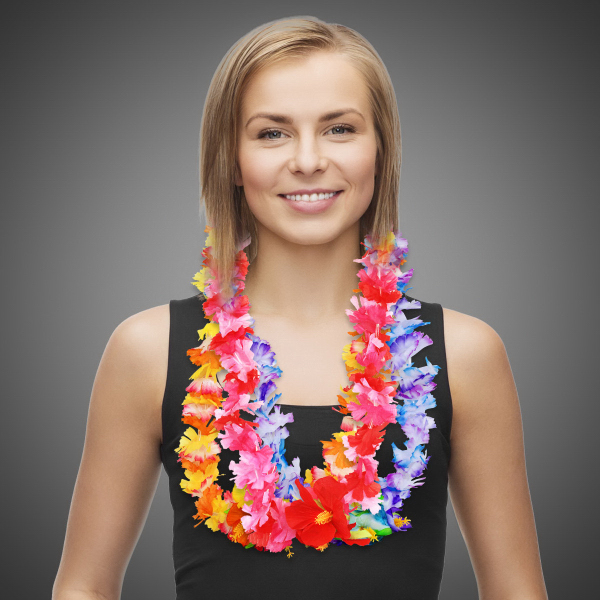 Printed Carnation Flower Lei
