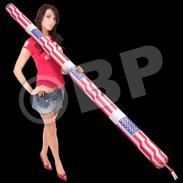 Customized 8' Patriotic Flying Rocket (Air Powered)