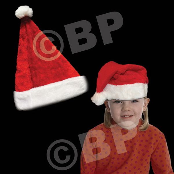 Customized Plush Santa Hat Child's Size