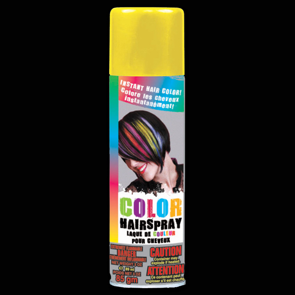 Personalized Yellow Hair Spray