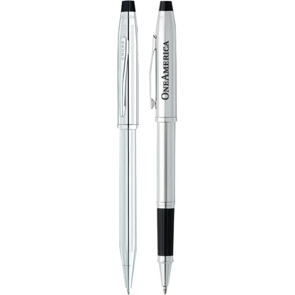 Personalized Cross (R) Century II lustrous chrome pen set