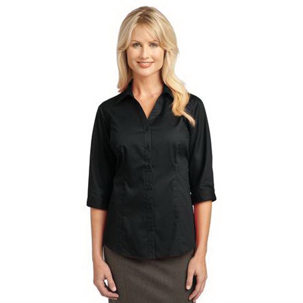 Custom Port Authority (R) Ladies 3/4 sleeve blouse
