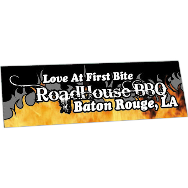 Imprinted Full Color Bumper Sticker