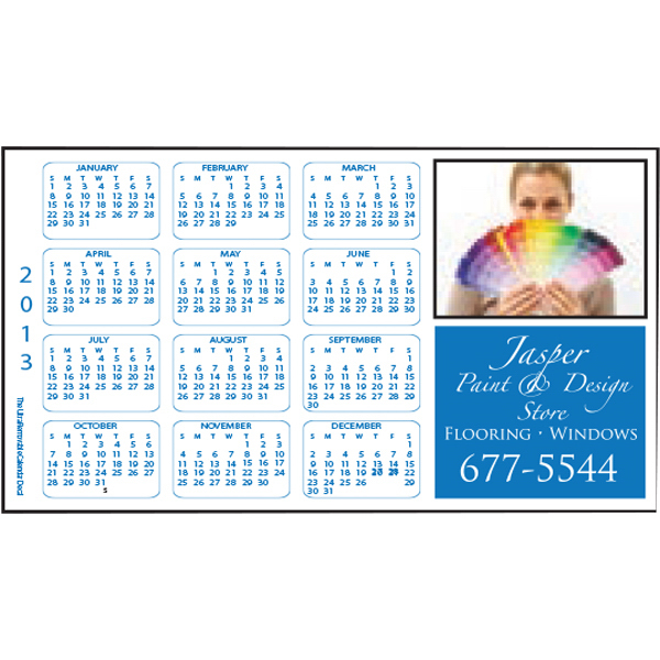 Printed Full Color Calendar Decal