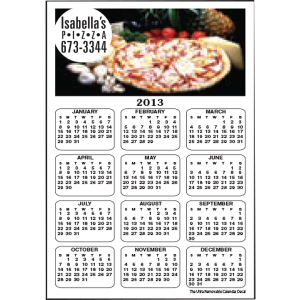 Personalized Full Color Calendar Decal