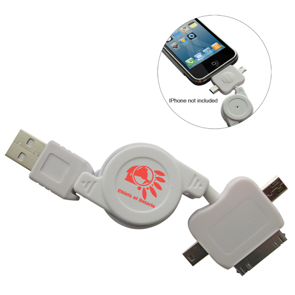 Personalized 3 in 1 Retractable USB