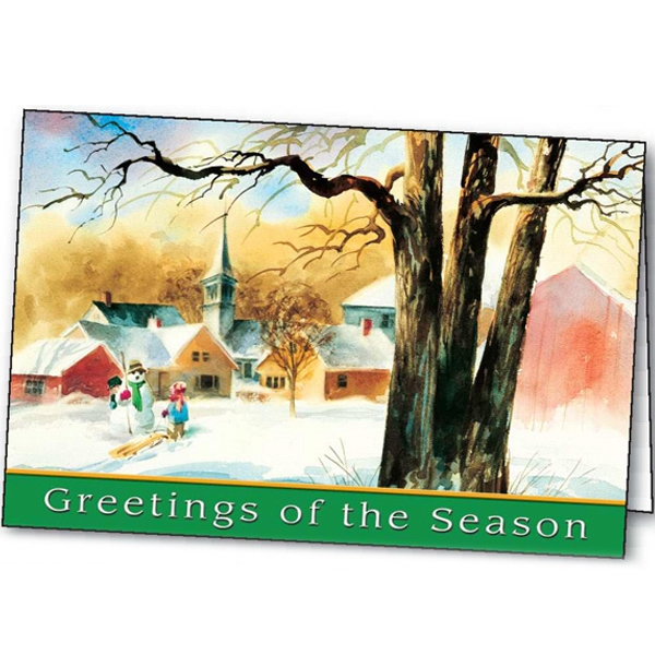 Personalized Holiday Welcome greeting card