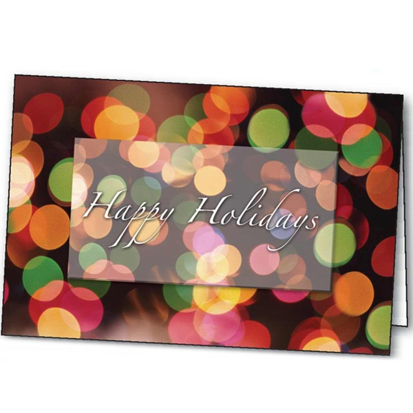 Printed Holiday Lights greeting card