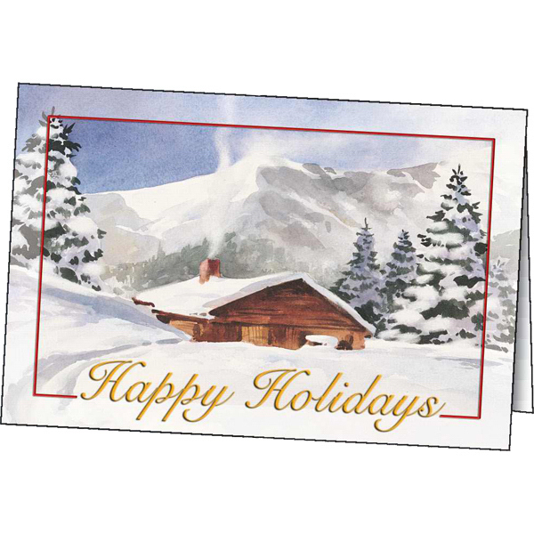 Imprinted Winter Comfort greeting card