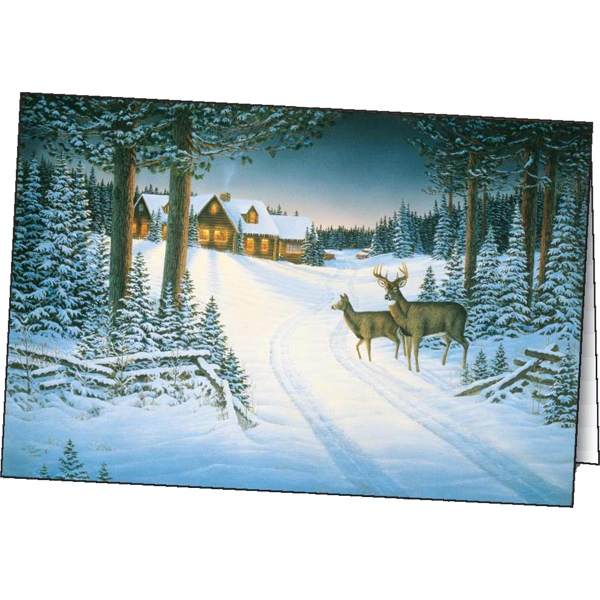 Printed Northern Retreat greeting card