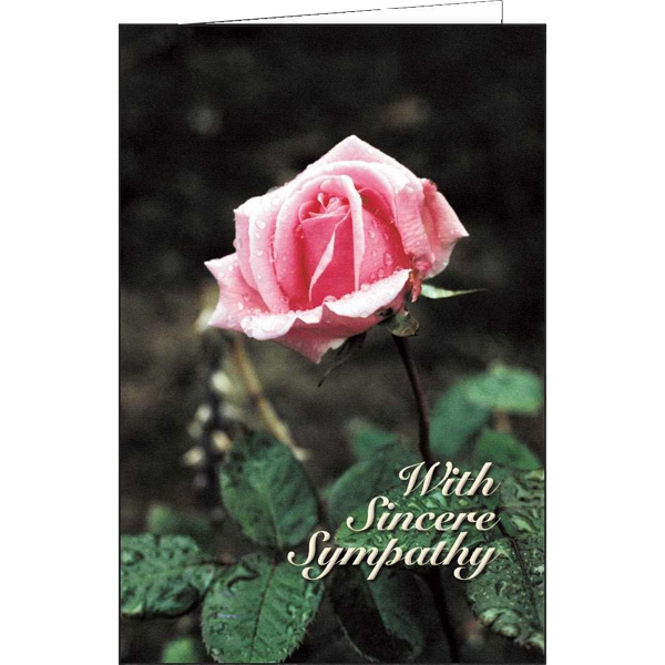 Printed With Sincere Sympathy special occasion card