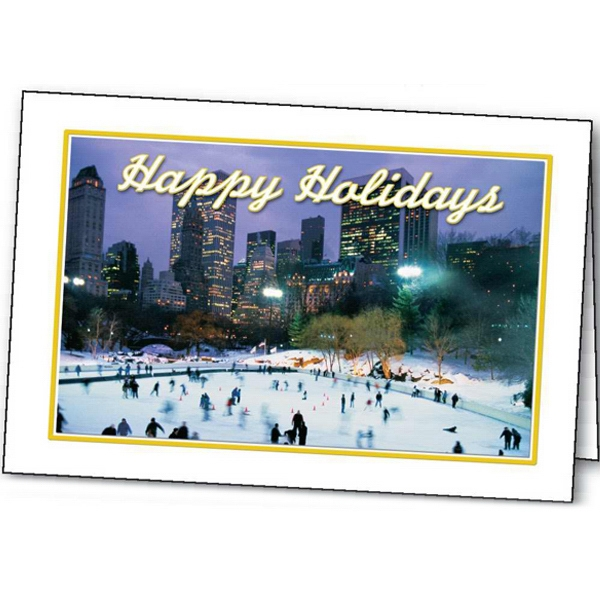Printed Skating Holiday greeting card