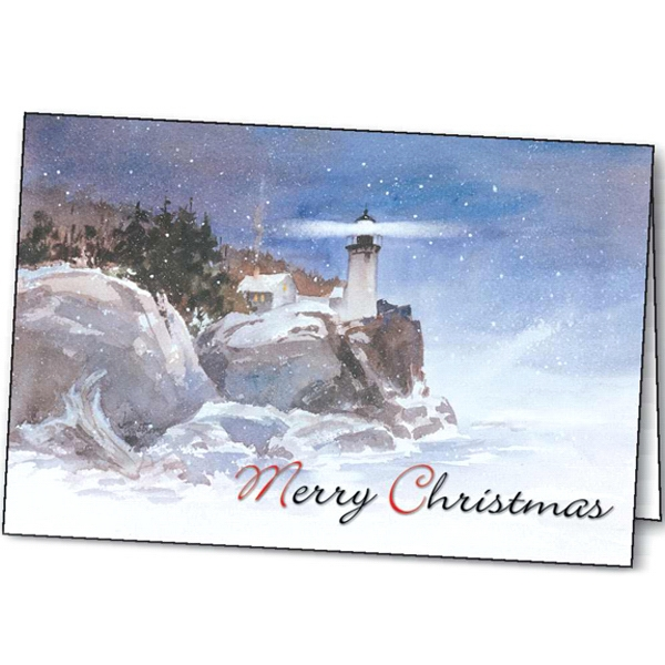 Promotional Winter Beacon greeting card