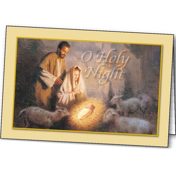 Custom O Holy Night greeting card