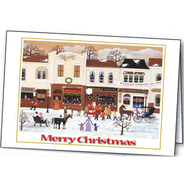 Imprinted Christmas Cheer greeting card