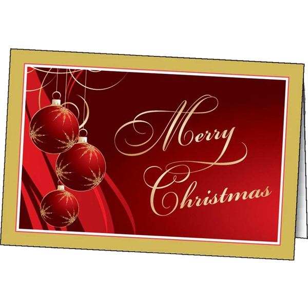 Imprinted Gilded Ornaments greeting card