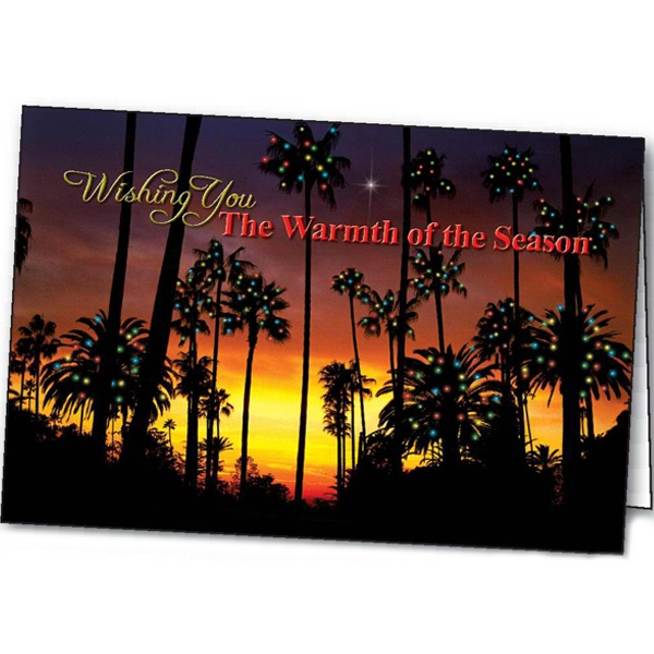 Personalized Warmth of the Season greeting card