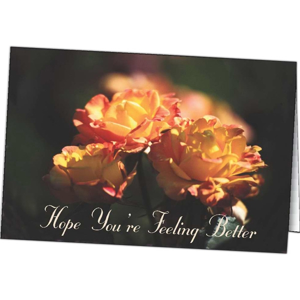 Customized Hope You're Feeling Better special occasion cards