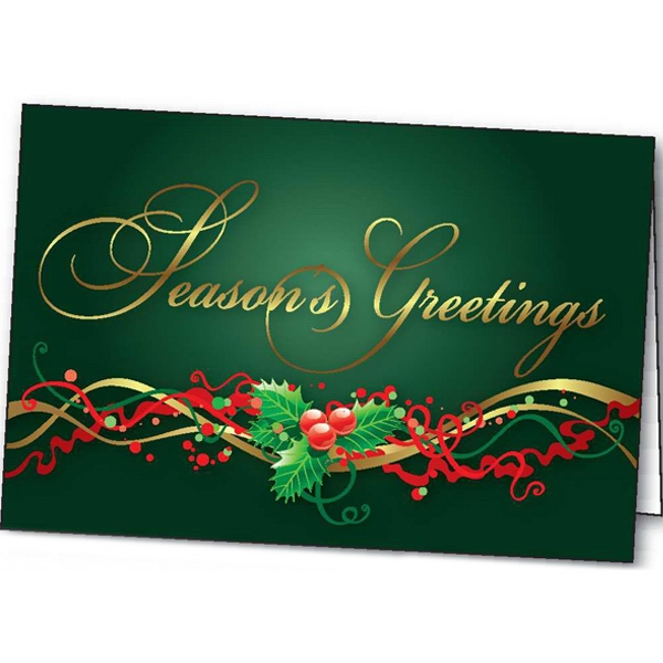 Custom Holly Time greeting card