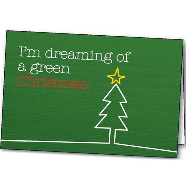 Custom A Green Christmas greeting card