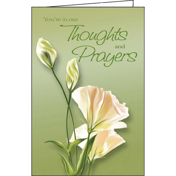 Custom You're in Our Thoughts and Prayers special occasion card