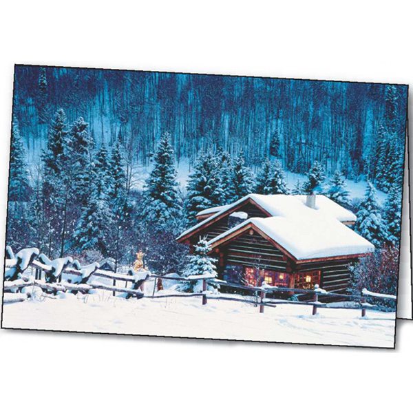 Customized Holiday Retreat greeting card