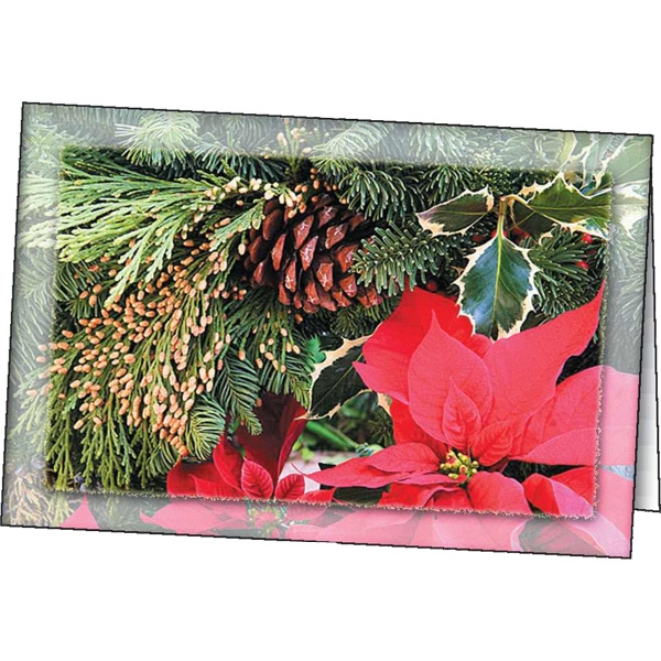 Promotional Poinsettia greeting card