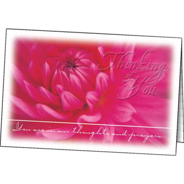 Imprinted Thinking of You special occasion card