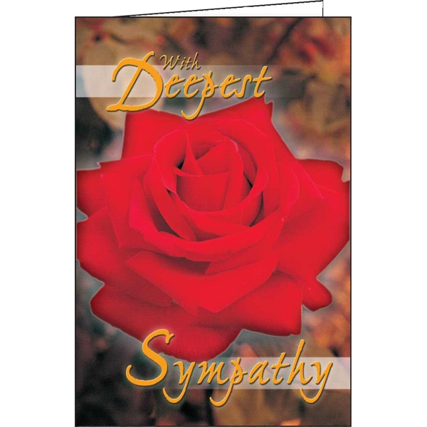 Printed With Deepest Sympathy special occasion card