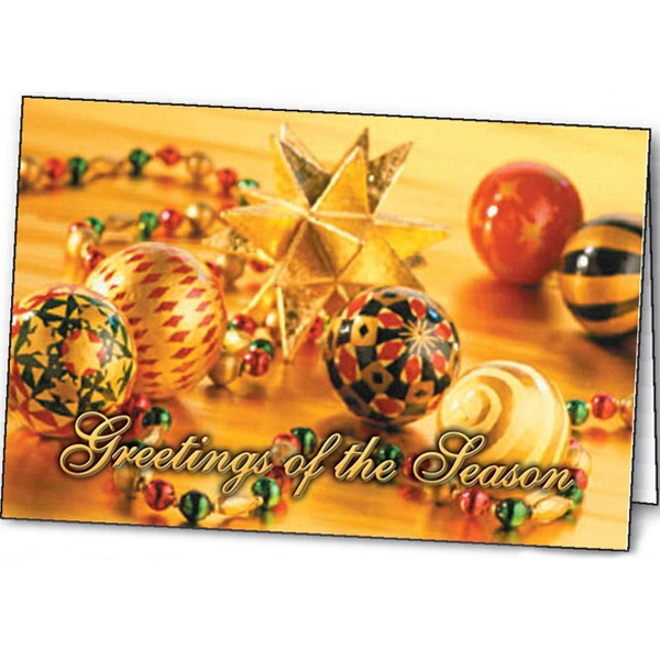 Promotional Shimmering Ornaments greeting card