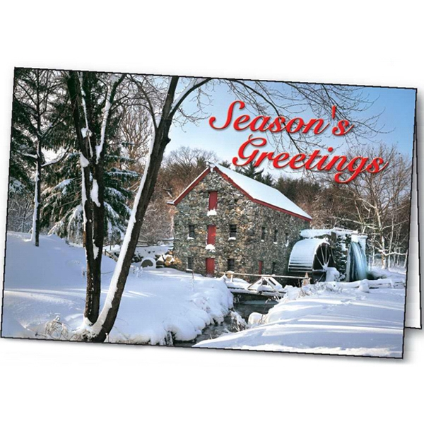 Custom Old Mill Holiday greeting card