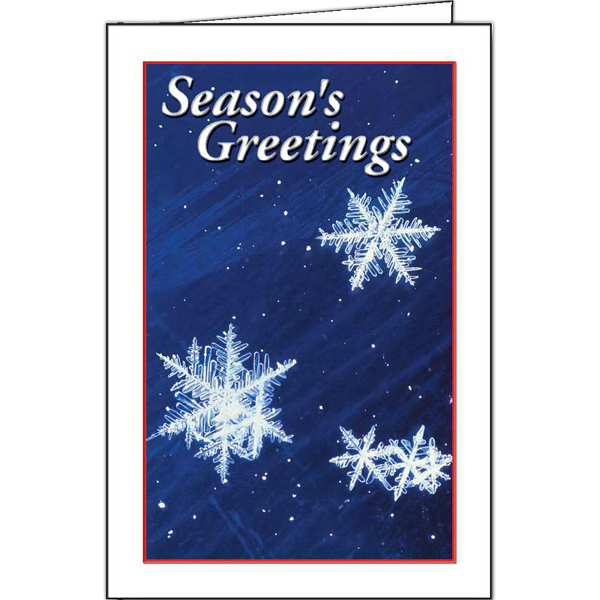 Promotional Snowflakes greeting card