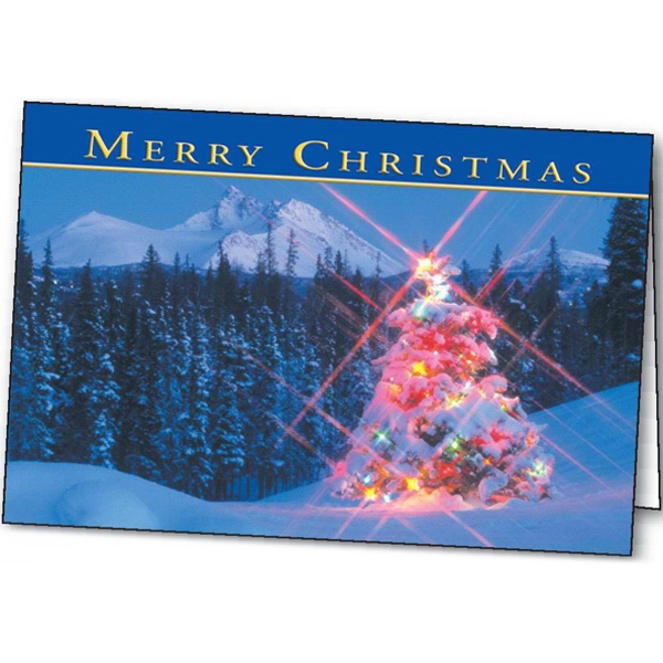 Personalized Winter Lights greeting card