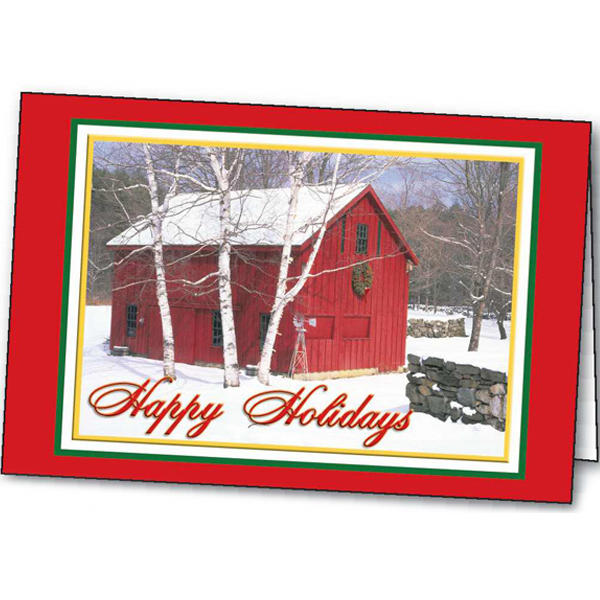 Personalized Holiday in the Country greeting card