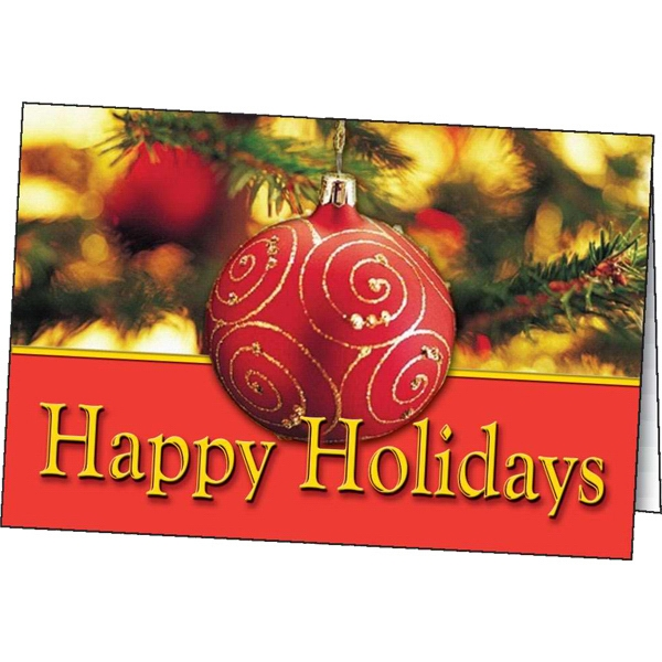 Printed Happy Holidays greeting card