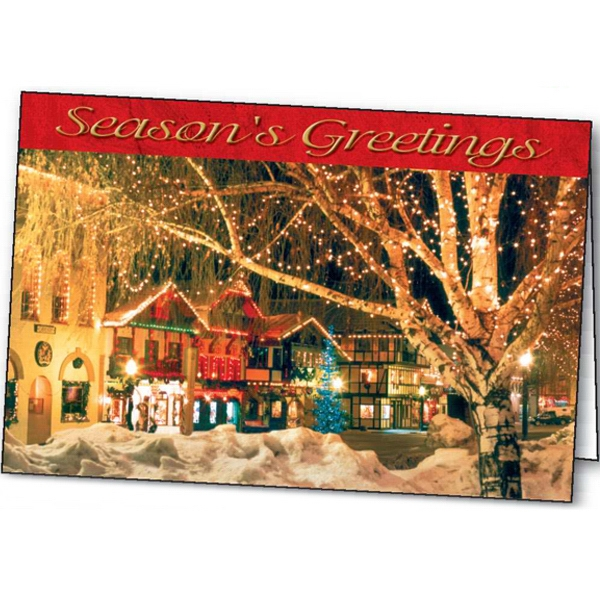 Customized Village Glow greeting card