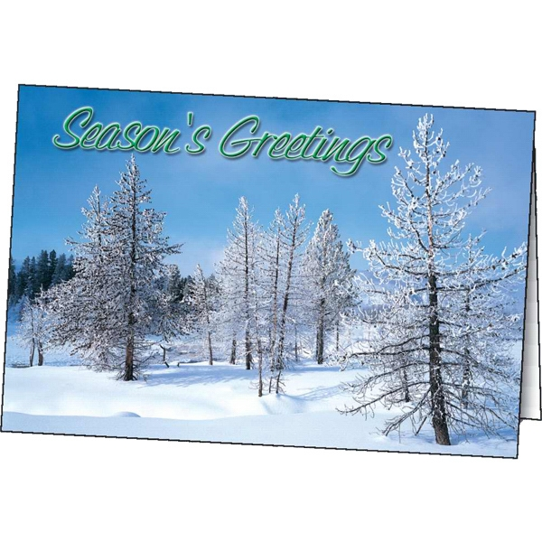 Imprinted Winter Greetings greeting card
